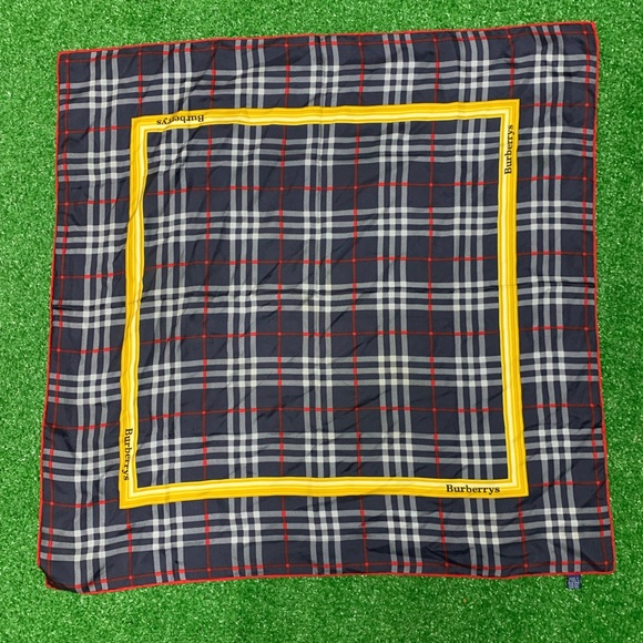 Burberry Accessories - Burberry Silk Scarf Plaid